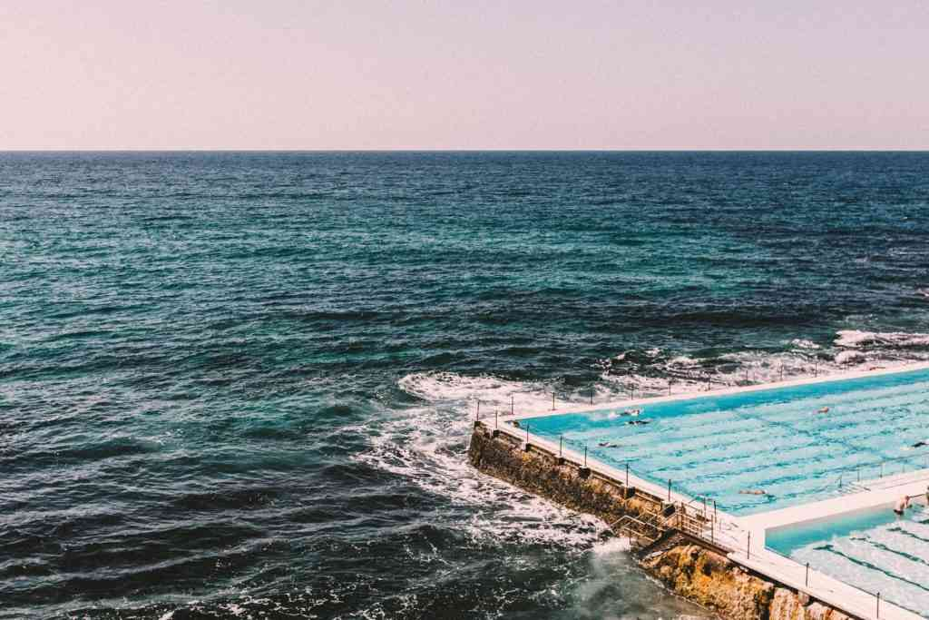 The iconic rock pool in Bondi Beach