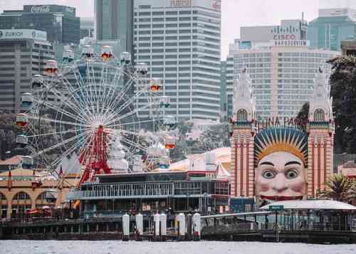 View of Luna Park from the ferry. Nothing beats Luna Park for a day of fun as a family in Sydney