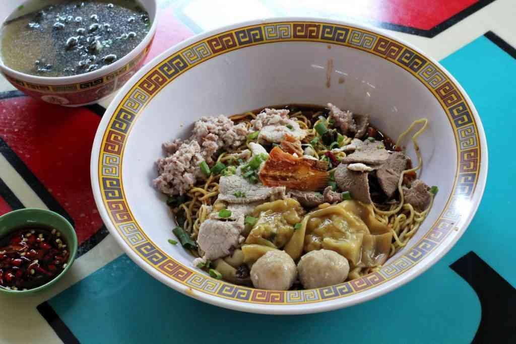 Kid friendly meal Bak Chor Mee in Singapore