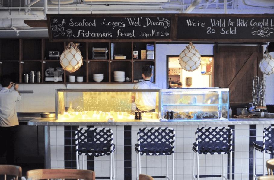Bayswater Kitchen kitchen, and glimpse of tasty menu