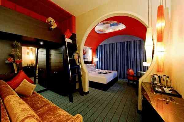 A kid friendly room in the exciting Resorts World Sentosa