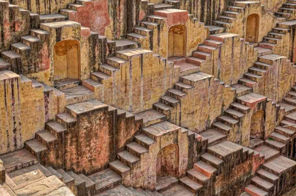 Abhenari Stepwell is one of the best things to visit with kids in India