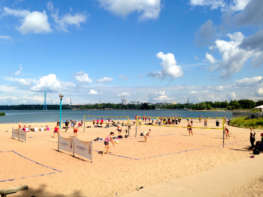 Any of Helsinki's beaches are great for a day trip withthe amily